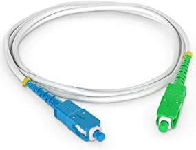 Octofibre - Câble Fibre Optique Freebox - 3m - Renforcée avec Blindage Kevlar - Rallonge/Jarretiere Fibre Optique - SC A...