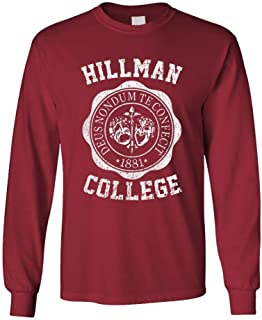 Hillman College - Retro 80s Sitcom tv - Long Sleeved Tee