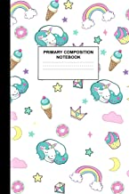 Primary Composition Notebook: Writing Journal for Grades K-2 Handwriting Practice Paper Sheets - Dazzling Unicorn School Supplies for Girls, Kids and ... 1st and 2nd Grade Workbook and Activity Book