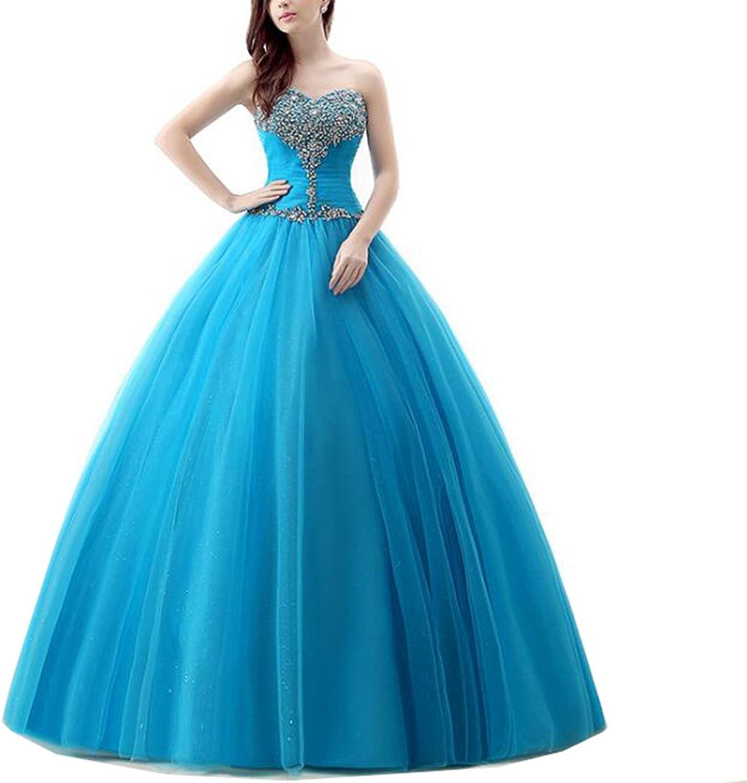 Lavaring Women's Formal ALine Sweetheart Evening Dress HeartShaped Beading Gown