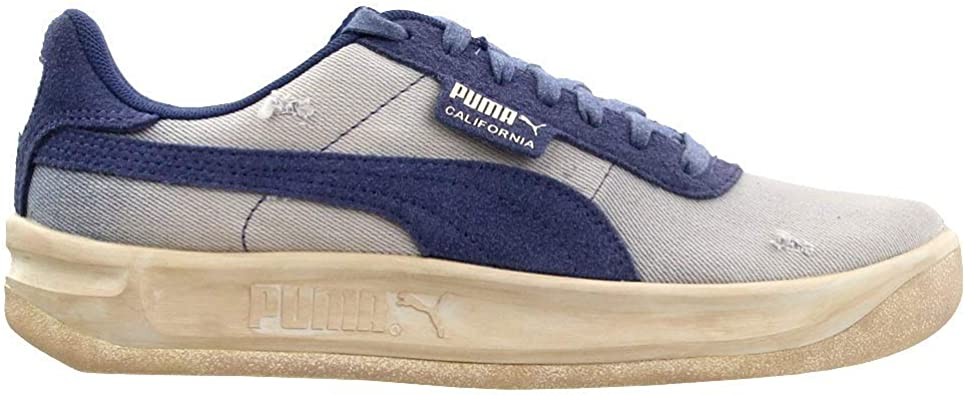PUMA Mens California Dark Vintage Lace Up Sneakers Shoes Casual - Blue