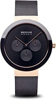 BERING Time 35040-166 Ceramic Collection Slim Watch with Mesh Strap and Scratch Resistant Sapphire Crystal. Designed in Denmark