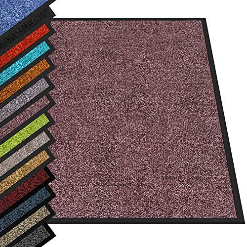 etm® Schmutzfangmatte - Fußmatte in vielen Größen - Türmatte Fußabstreifer für Haustür innen und außen (Aubergine/Lila, 90x120 cm)