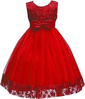 WEONEDREAM 1-9 Big Little Girl Pink Flower Girl Dresses