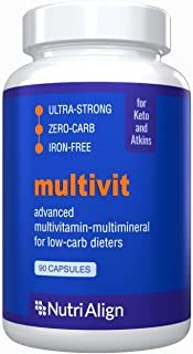 Nutri-Align Multivit: Multivitamins for Keto, Atkins and Similar Low-Carb Diets. Extra-Strong, Iron-Free, Sugar-Free, Zero...