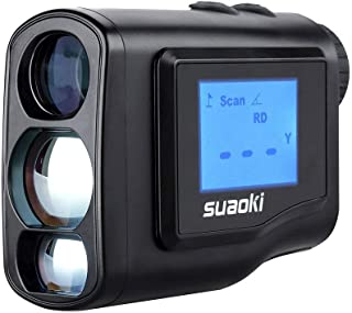 SUAOKI Digital Laser Rangefinder Scope (Range : 4.4 Yard- 656 yard/600M) with Golf Distance Correction, Fog Mode and LCD Screen Display