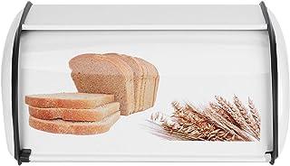 Boîte à pain en acier inoxydable, porte-pain de grande capacité, organisateur rangement de cuisine, conteneur à pain en mé...