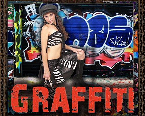 US7 Graffiti Bordüren Senior Digital Foto Hintergrund Hintergrund Vorlage Rahmen