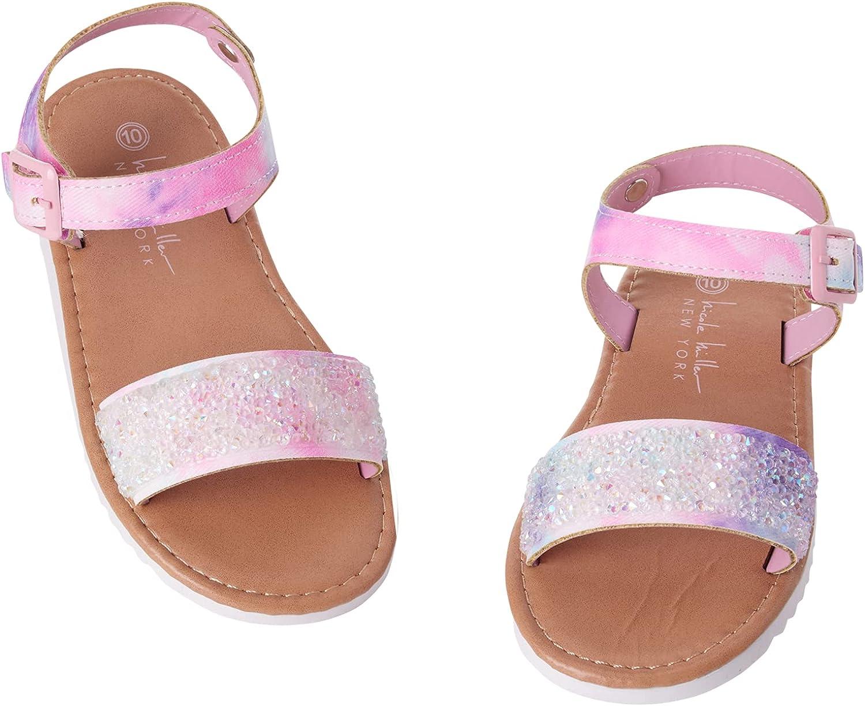 Nicole Miller Toddler Genuine Free Some reservation Shipping Girls' Sandals Rhinestone – S Glitter