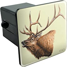 Elk Head Hunting Tow Trailer Hitch Cover Plug Insert 2