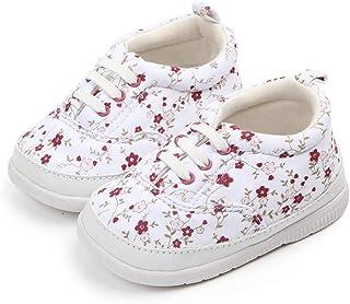 f87c259623a07 Nagodu Shoes Zapato Tipo Tenis para niña Blancos con Flores Rojas y Rosa  Claro