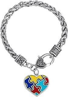 DemiJewelry Autism Awareness Puzzle Piece Jigsaw Classic Charm Bracelet