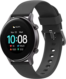 UMIDIGI Smart Watch Urun S, Activity Tracker for Women and Men, Fitness Tracker with Blood Oxygen Monitor and Heart Rate Monitor, 5ATM Waterproof Pedometer for iPhone and Android (Space Gray)