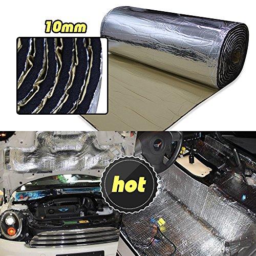 lingda 10�mm Hitzeschild Thermo Isolierung Proof deadener Matte Auto Noise Control Akustische D�mpfung feuchtigkeitsfest Wasserdicht