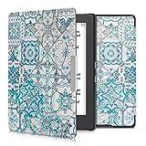 kwmobile Funda Compatible con Kobo Aura H2O Edition 1 - Carcasa para e-Reader de Piel sintética - Azul/Gris/Blanco