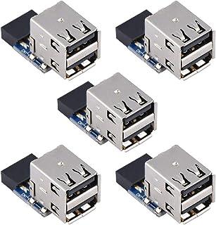 5 stks USB 2.0 Moederbord Header Connector 9Pin/10Pin Header naar 2 USB2.0 A Poort Moederbord Connector Adapter(EEN)