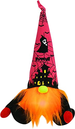 high quality SegkopuoL Halloween Glowing Gnome, Nordic Dwarf Faceless Doll, Sitting Rudolph Doll Faceless online sale Doll with Halloween Silhouettes Pattern for Halloween Home Decorations (Style outlet sale A) online
