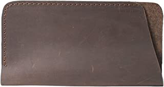 InCarne Simple stylish leather eyeglasses case soft leather holder pouch (02007)