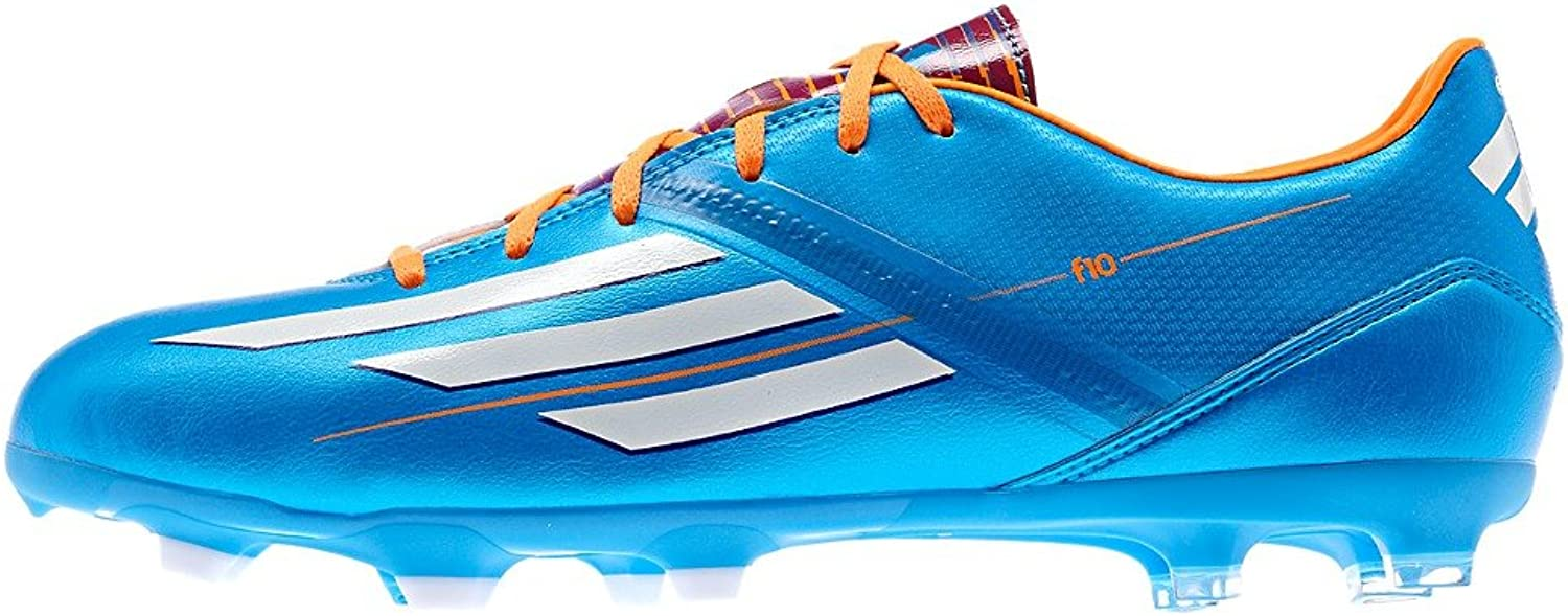 New Adidas F10 Trx Fg Soccer Cleats Solar bluee 6.5