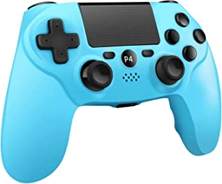 PS4コントローラーW&O DualShock 4 PlayStation 4 / Pro/Slim/PCおよびモーションモーターとオーディオ機能、LEDインジケーター、USBケーブル、ワイヤレスゲームパッド-ノースカロライナブルー