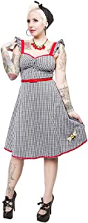 Sourpuss Gingham Bee Mine Dress from Clothing
