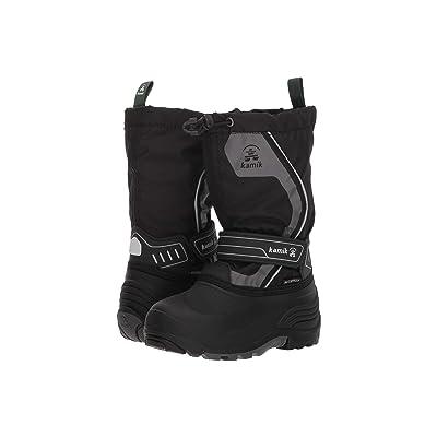Kamik Kids Snowcoast3 (Toddler/Little Kid/Big Kid) (Black/Charcoal) Kids Shoes