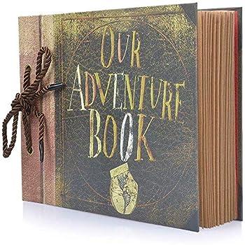 Photo Album Scrapbook Our Adventure Book DIY Handmade Album Scrapbook Movie Up Travel Scrapbook for Anniversary Wedding Travelling Baby Shower etc  Travel Scrapbook