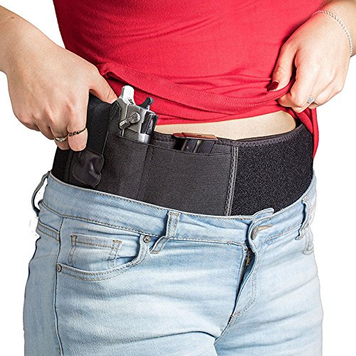 OWIKAR Belly Band Holster for Concealed Carry, Waist Band Handgun Carrying System, Elastic Hand Gun Holder for Pistols Revolvers for Men and Women