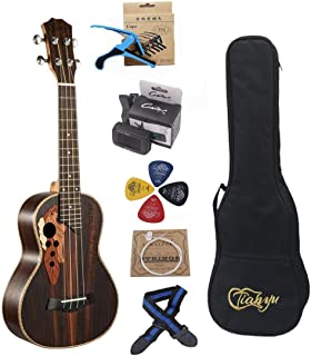 23-inch Hawaii ukulele rosewood professional concert Ukulele send tuner trim folder thick piano bag