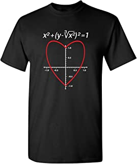 Love Heart Equation Math Graphic Mens Ladies Funny Valentine's Day T Shirt