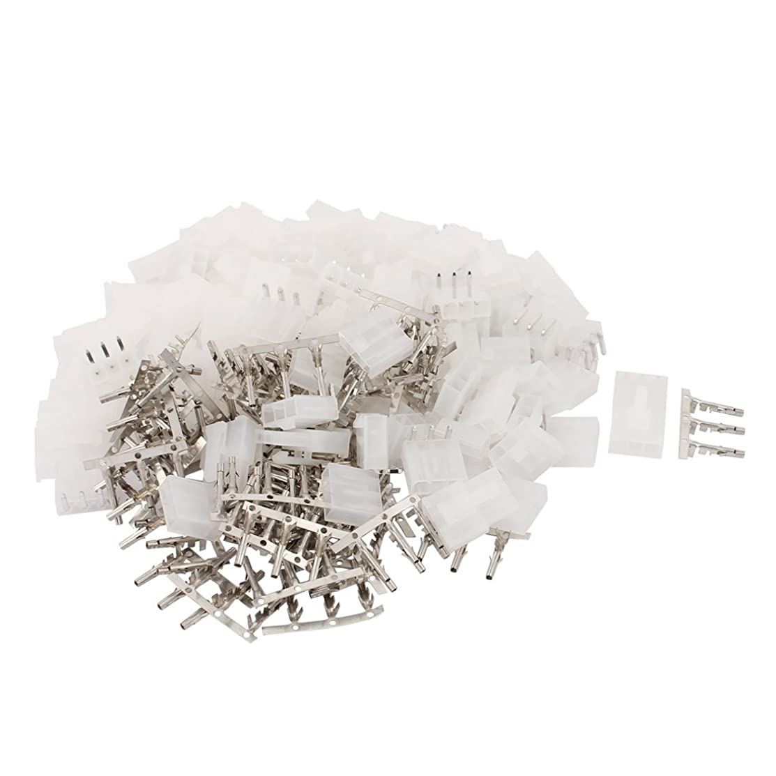 Aexit 50 Sets Stereo System Components Single Row Male Shell 5557 4.2mm Pitch 3P Header Bent Wireless Audio Receivers & Adapters Connector White