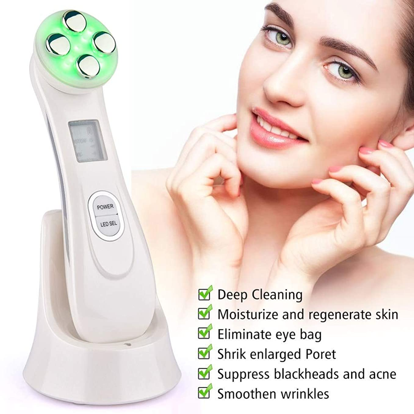 使用法書士先入観5に付き1つの美顔術の美肌/ EMS/RFの美顔術の光子のスキンケア装置の表面持ち上がることは美のマッサージ機械をきつく締めます