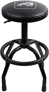 Aain LTA13 Adjustable Height Swivel Shop Stool, Bar Stool with Black Powder Coating Finish Steel Legs for Garger,Workshop and Auto Repair Shop(Black)