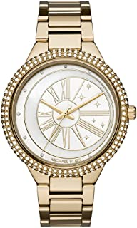 Women's Taryn Analog-Quartz Watch with Stainless-Steel Strap, Gold, 9.6 (Model: MK6550)