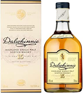 Dalwhinnie Single Highland Malt Whisky,15 Jahre alt 70cl - Packung mit 6