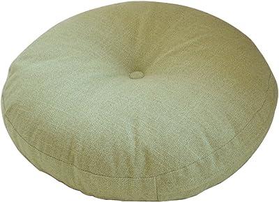"TINTON LIFE Solid Color Circular Yoga Bolster Zafu Meditation Tatami Cushion (Light Green, 17.7"")"