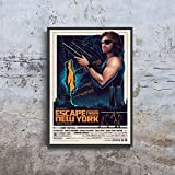 Escape from New York Alternative Snake Plissken Post Apocalyptic Movie Film Poster (XL - 24 x 36 icnh (61 x 91 cm))