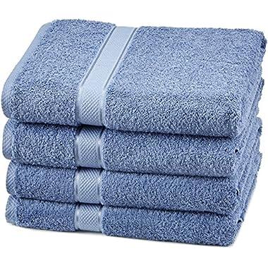 Pinzon Egyptian Cotton Bath Towel Set (4 Pack) - Wedgewood