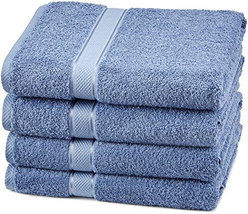 Pinzon Blended Egyptian Cotton 4 Bath Towel Set, Wedgewood
