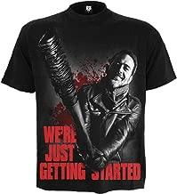 Spiral Mens - Negan - Just Getting Started - Walking Dead T-Shirt Black