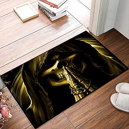 QDYLM Alfombra de baño de Microfibra esponjosa,Parca de Oro alfombras de Ducha de Suave Absorbente de Agua, 50x80 cm