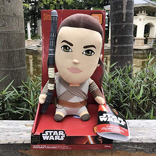 LEIYU En caja de voz elctrica Star Wars mueca de felpa Negro Samurai Blanco Soldado VoiceFemaleSkywalker