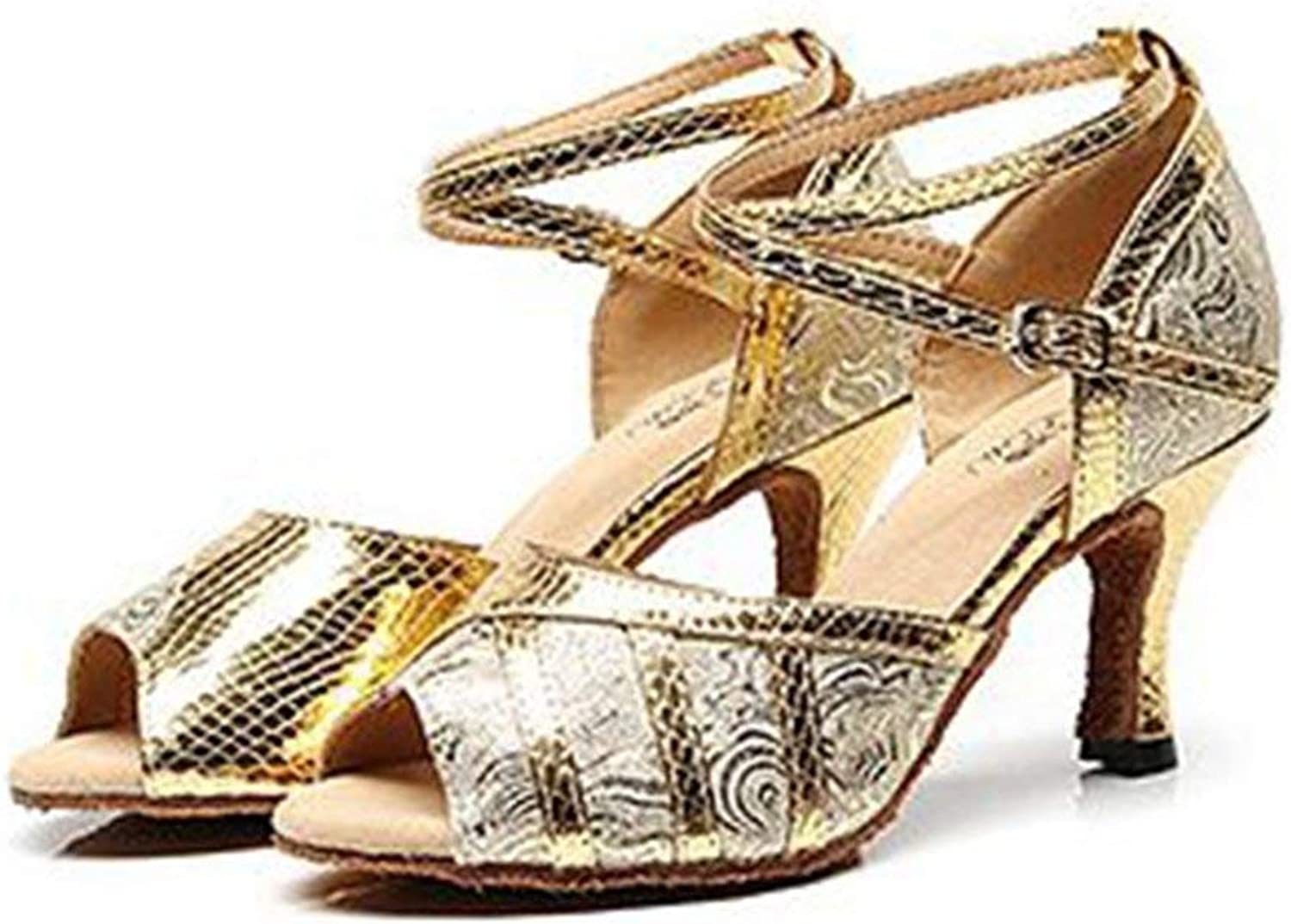 Beautiful - Fashion Women's Glitter Latin Salsa Tango Dance Heel Sandals Ballroom Morden Wedding Party Dancing shoes
