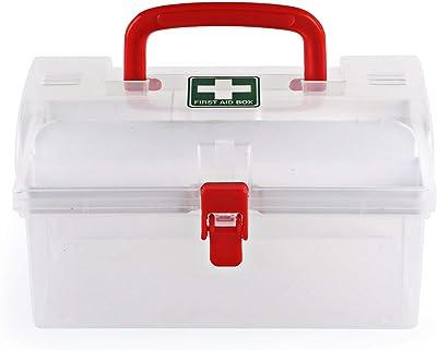 Swadhin Plastic Medical Box with Handle (White)