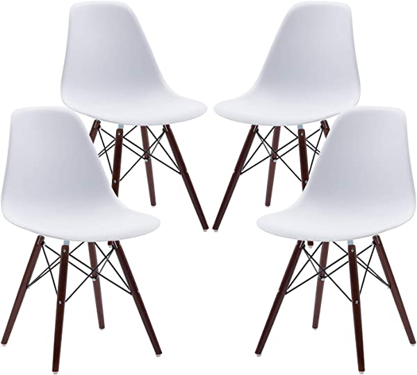 Phoenix Home Kenitra Contemporary Plastic Dining Chair Bone White Set Of 4