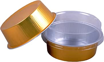 Cutequeen 130ml Golden Aluminum Foil Cups FOR Muffin Cupcake Baking Bake Utility Ramekin Cup (100pcs)