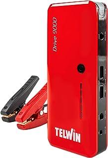 Telwin 829565 Arrancador multifuncion de litio y Power bank Rojo