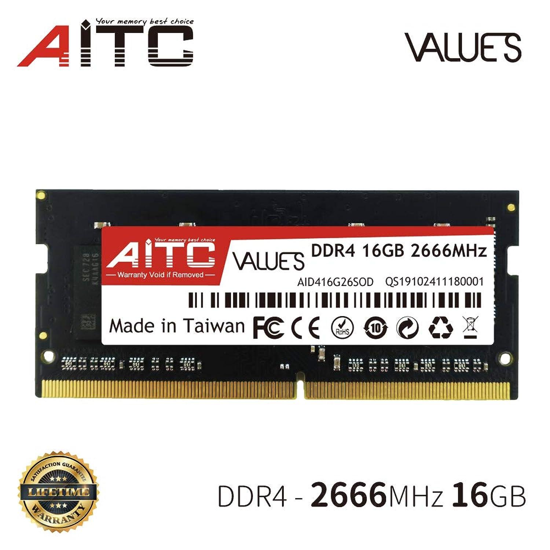 ゴルフシソーラス非常にAITC 16GB ノートパソコン用メモリ モジュール アップグレード DDR4 2666MHz SO-DIMM ノートブック RAMモジュール