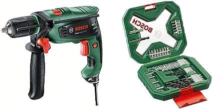 Bosch EasyImpact 550 - Taladro percutor + Bosch X-Line - Maletín de 34 unidades