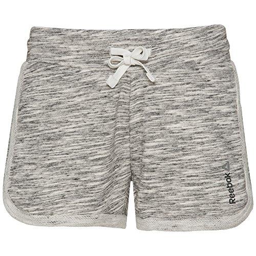 Reebok Damen EL Marble Shorts Kurze Hose, Schwarz/Chalk, XS
